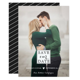 Charming Love Save the Date Photo Card