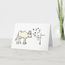 Charming Love Song Personal Message Card