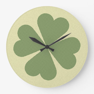 Charming Lucky Clover Large Clock