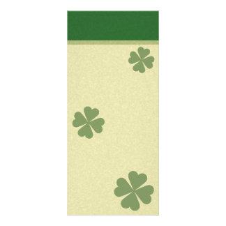 Charming Lucky Clover Rack Card