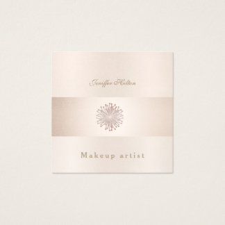 Charming Luxury gentle shiny bright dandelion Square Business Card