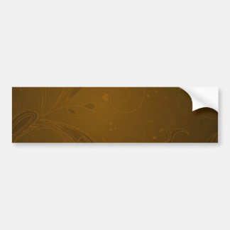 Charming maroon floral gift bumper stickers