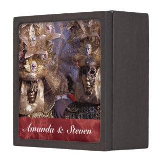 Charming Masked Couple at the Carnevale di Venezia Jewelry Box