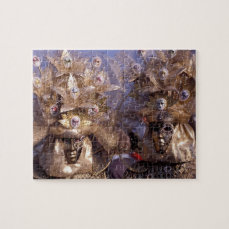 Charming Masked Couple at the Carnival of Venice Jigsaw Puzzle