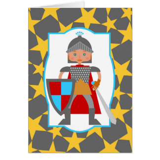 Charming medieval knight card