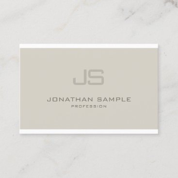 Charming Monogram Modern Design Professional Business Card