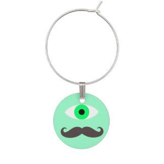 Charming Mustache Wine Glass Charm