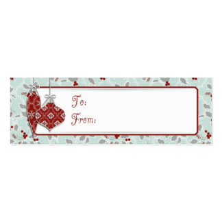 Charming Ornaments Skinny Gift Tag Business Card Templates