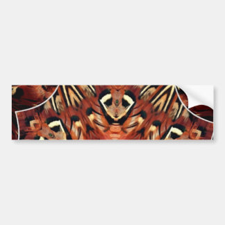 Charming Pheasant Feathers Kaleidoscope Bumper Stickers