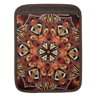 Charming Pheasant Feathers Kaleidoscope Sleeves For iPads