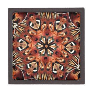 Charming Pheasant Feathers Kaleidoscope Premium Trinket Boxes