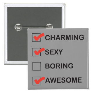 Charming Pinback Button