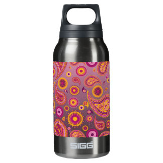 Charming Pink & Black Paisley Insulated Water Bottle