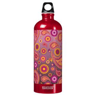 Charming Pink & Black Paisley SIGG Traveler 1.0L Water Bottle