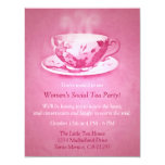 Charming Pink Tea Party Invitation
