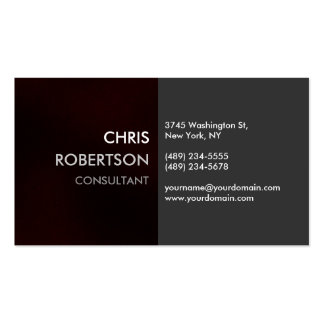 Charming Plain Browny Red Attractive Business Card