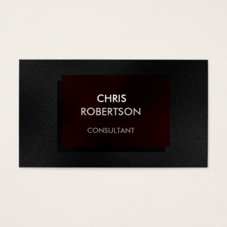 Charming Plain Gray Red Attractive Business Card
