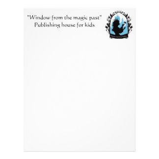 Charming princess stylish silhouette singing bird letterhead