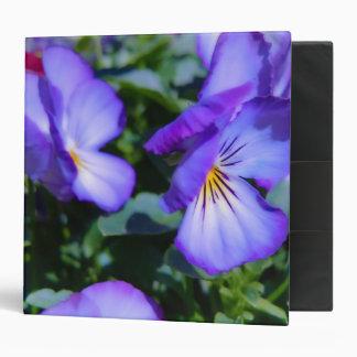 Charming Purple Pansy Vinyl Binder