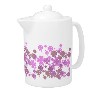 Charming Purple Teapot by Janz