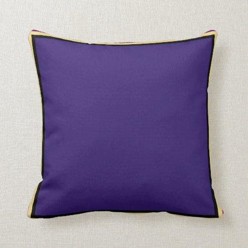 Charming Purple Throw Pillow