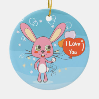 Charming Rabbit Christmas Ornament