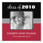 Charming Red Custom Graduation Announcement