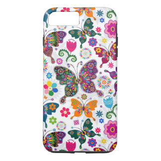 Charming Retro Flowers And Butterflies Pattern iPhone 7 Plus Case