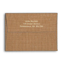 Charming Rustic Horse Invitation Envelope