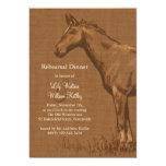 Charming Rustic Horse Rehearsal Dinner Invite
