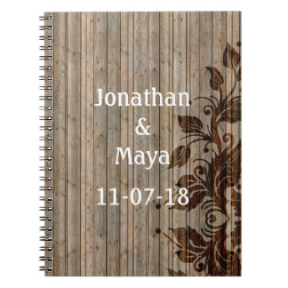 Charming Rustic Wood Vines Notebook/Guestbook Notebook