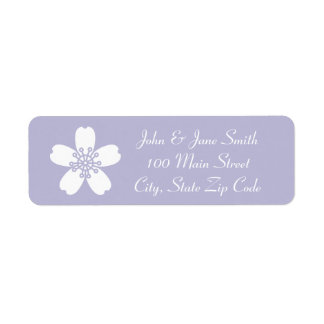 Charming Sakura in Lavender Return Address Label