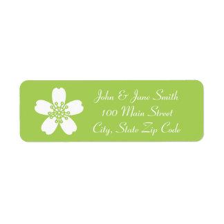 Charming Sakura in Peridot Return Address Label