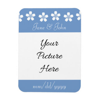 Charming Sakura in Periwinkle Save-the-Date Magnet