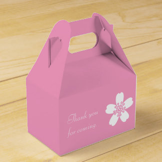 Charming Sakura in Petal Pink Favor Box