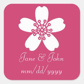 Charming Sakura in Raspberry Sticker