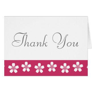 Charming Sakura in Raspberry Thank You Card