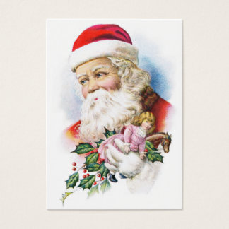 Charming Santa Claus with Toys Business Card