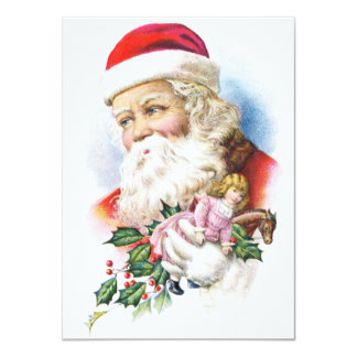 Charming Santa Claus with Toys Card