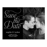 Charming Script Save The Date Card Postcard