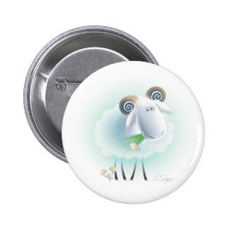 charming sheep 2 inch round button