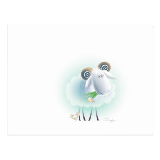 charming sheep postcard