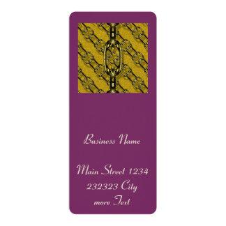 charming shiny chains golden (I) 4x9.25 Paper Invitation Card