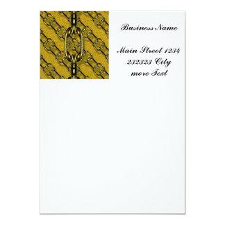 charming shiny chains golden (I) 5x7 Paper Invitation Card