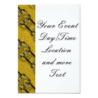 charming shiny chains golden (I) 3.5x5 Paper Invitation Card