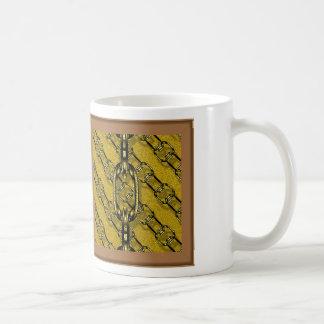 charming shiny chains golden (I) Classic White Coffee Mug