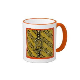 charming shiny chains golden (I) Ringer Coffee Mug