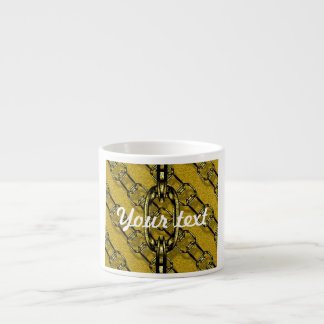 charming shiny chains golden (I) 6 Oz Ceramic Espresso Cup