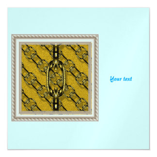 charming shiny chains golden (I) Magnetic Invitations