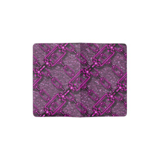 charming shiny chains purple pink (I) Pocket Moleskine Notebook Cover With Notebook